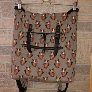 Fox print backpack-Mossimo